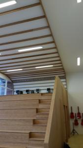 Box in Box, tbv muziek studios in het Werkman college, Groningen in opdracht van Plegt Vos BV